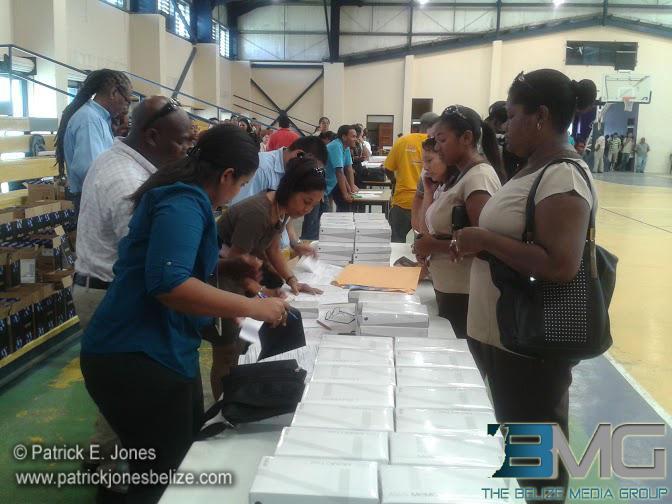 Tablets being distributed in Belmopan